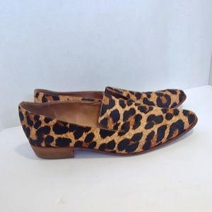 Madewell calfhair leopard print loafers